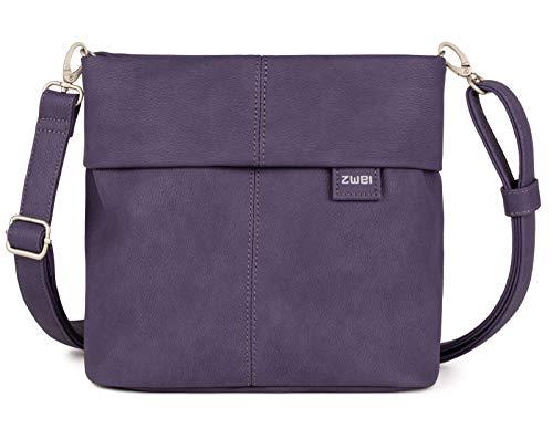 zwei Mademoiselle M8 Umhängetasche 25 cm, Nubuk-violet (Violett),
