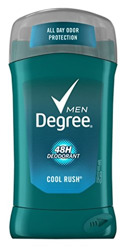 Degree Deodorant 3 Ounce Mens Time Released Cool Rush (88ml) (6 Pack)