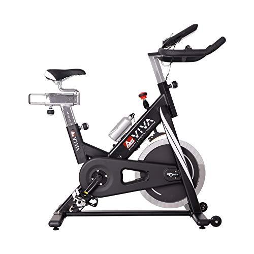 AsVIVA Indoor Cycle Speedbike S14 Bluetooth | inkl. SPD Klickpedale & Brustgurt (Pulsgurt) | 23kg Schwungmasse | App kompatibel | stufenlose Widerstandseinstellung