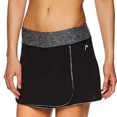HEAD Women's Athletic Tennis Skort - Performance Training & Running Skirt - Prestige Black, Medium