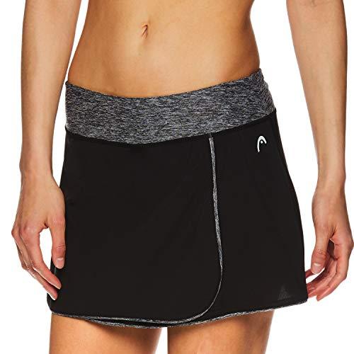 HEAD Women's Athletic Tennis Skort - Performance Training & Running Skirt - Prestige Black, Large