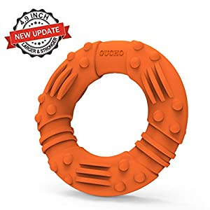 Updated Durable Dog Chew Toys for Aggressive Chewers – Lifetime Replacement Guarantee – Nearly Indestructible Natural Rubber Dog Toys – Tough Strong Tug of War Dog Teething Toys for Large Medium Dogs