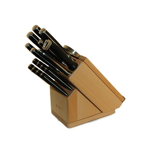 Berghoff 20 Piece Forged Smart Knife Block/Swivel Base, Cut Board & Herb Cutter, Tan