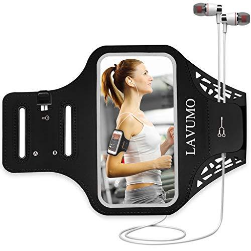 Sportarmband Handy für iPhone 7 6 6s 8 SE 5S 5 5C Samsung Galaxy a3 S3 S4 Joggen Laufen Gym Sport Handytasche Handyhalterung mit Schlüsseltasche & kleines Geld passt für 4.0