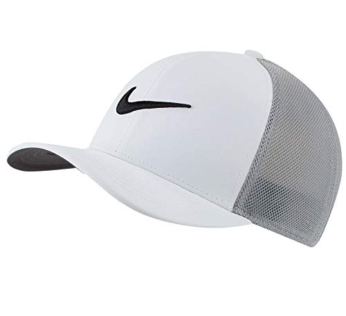 Nike AeroBill Classic99 Mesh Golf Hat - White/Wolf Grey/Black