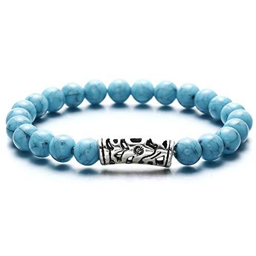 DMUEZW Mode Stijl Chakra Healing Kralen Armband Natuurlijke Lava Diffuser Armband voor Mannen Vrouwen Beste Vriend Hot