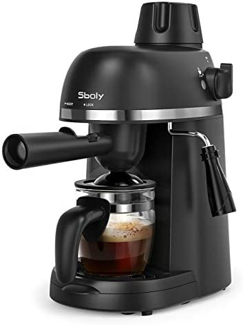 Sboly Espresso Machine with Milk Frother 1 4 Cup Expresso Maker Latte Cappuccino Machine Carafe product image