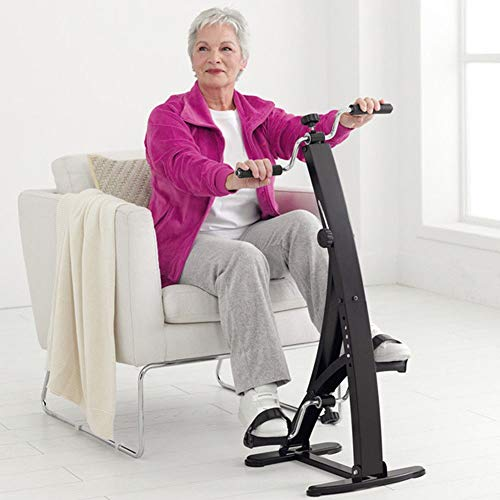 BAKAJI 2830548 - Pedal de Entrenamiento para Brazos y piernas Unisex, Color Negro, 105 x 45 x 41 cm