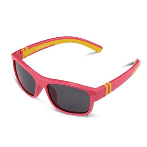 DUCO DUCO Kinder Sonnenbrille Polarisierte Sportbrille für Jungen und Mädchen Für Alter 5-12