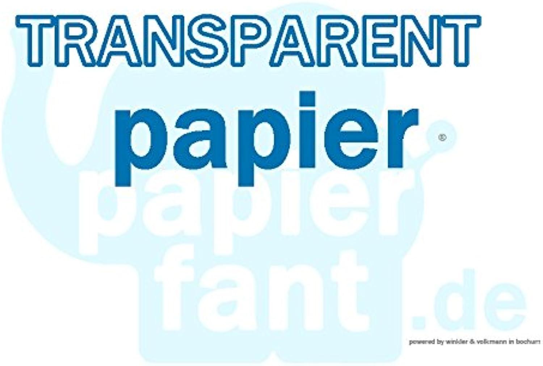 Tracing Paper 100 Sheets of Paper Transparent DIN Long 110 115 g m2  papierfant. de  Superb.