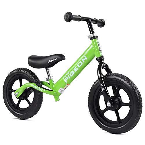 Child balance bike Kinder-Laufrad, pedalloses Fahrrad, 12-Zoll-Roller, Kohlenstoffstahllegierung, Nicht luftbereifter Reifen, Lauftrainer