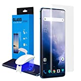 Foluu [1 Pack] Oneplus 7 Pro Screen Protector, Full HD Curved Edge [Liquid UV Tempered Glass][Exclusive Solution for Ultrasonic Fingerprint] Easy Install Kit for Oneplus 7 Pro 2019
