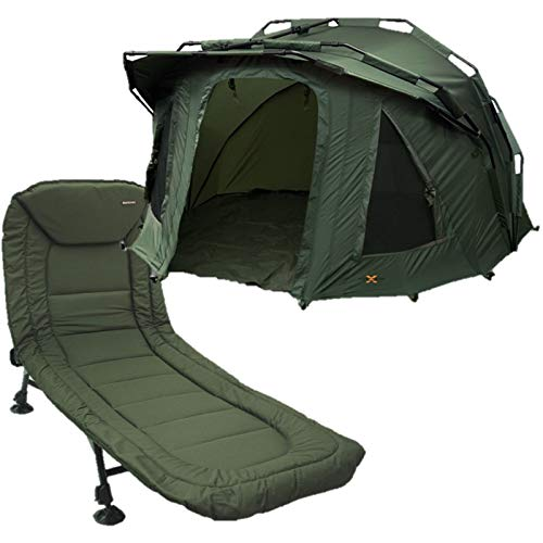 2 Man Fortress 3 Rib Bivvy with Hood NGT Carp Fishing + NGT BED CHAIR 6 LEG