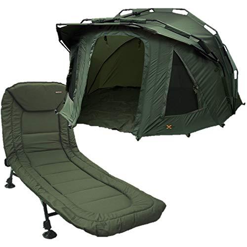 2 Man Fortress 3 Rib Bivvy with Hood NGT Carp Fishing + NGT BED CHAIR 6 LEG
