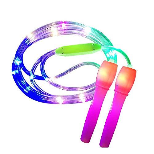 HJKL Luminous Skipping Rope,Kids Children Jump Ropes,Led Light Up Jump Rope,Random Color