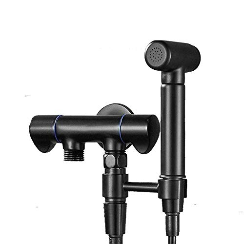 Nologo FJZ-FJZ Toilet Hose Bidet Sprayer Toilet Sprayer Kit Best Personal Sanitary Shower Set - Dual-use Dual-Outlet Washing Machine Faucet Black Showerheads