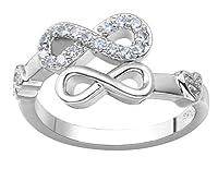 Woo2u リング 指輪 レディース オシャレ ファッション 華奢 プレゼント 彼女 ジルコニア シルバー約14号