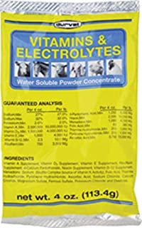 Durvet Vitamins & Electrolytes Powder Concentrate, 4 Ounces Each