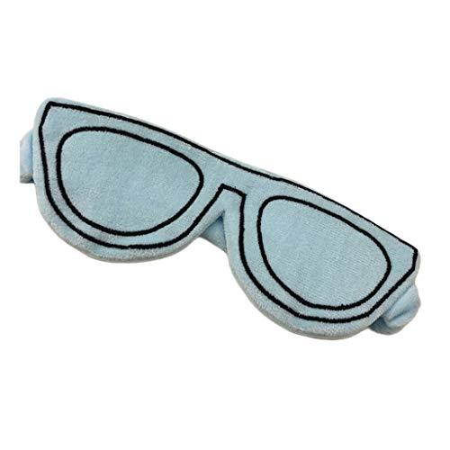 Yinuiousory Sonnenbrille Schlafmaske Samt Stirnband Augenbinde Kreative Lustige Stickerei blau