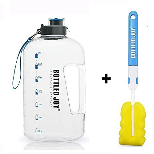 Botella de Agua, Botella de Agua Deportiva de Aptitud con Marcador de Tiempo Tracker para medir la Ingesta Diaria de Agua para Athletic, 100% Libre de BPA