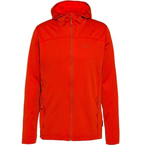Jack Wolfskin Men's HORIZON HOODED JACKET M Athletic Shell Jackets lava red L