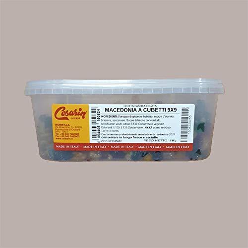 LUCGEL Srl (1 kg) Ensalada de frutas confitadas en cubos 9x9 CESARIN x Panettone Colomba Sweets