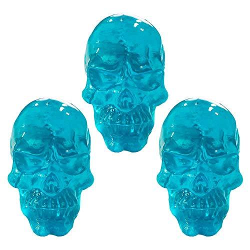 Lot de 3 boutons de tiroir en résine bleue pour chambre d'enfant