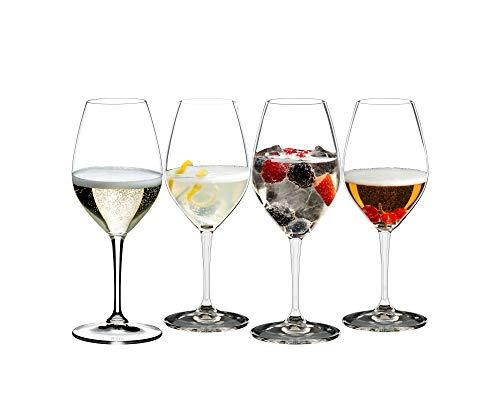 Riedel Mixing - Copas de champán (4 unidades), transparente