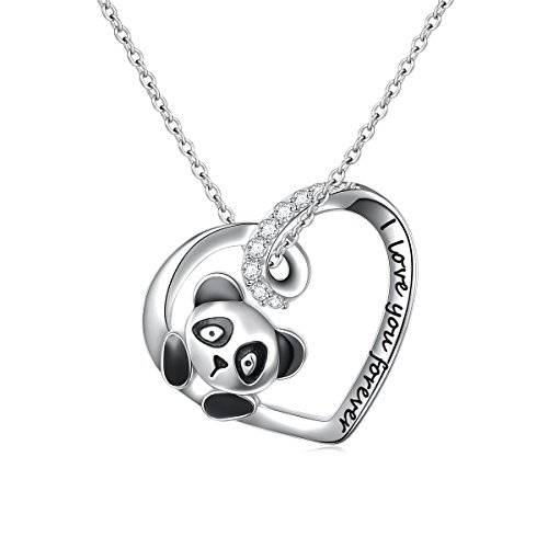 (50% OFF) Sterling Silver Panda Heart Pendant Necklace $13.50 – Coupon Code