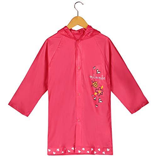 Disney Minnie Mouse Girl's Pink Rain Slicker Size Small 2/3