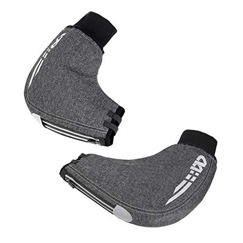 SM SunniMix Fahrrad Lenker Handschuhe warme Lenkerstulpen wasserdicht Winddicht Sporthandschuhe - Grau