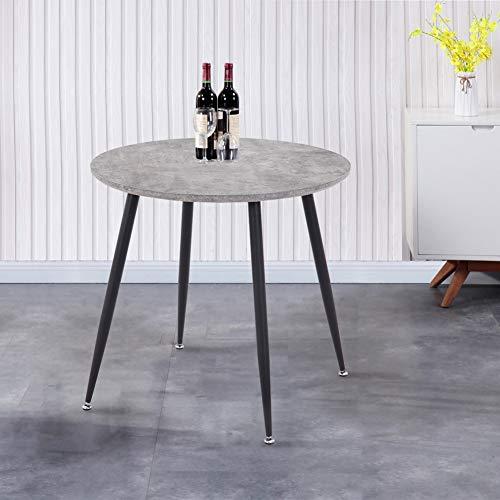 GOLDFAN Esstisch Rund Küchentisch Modern Wohnzimmertisch Matt für Büro Küche Schwarz 80x80x75cm
