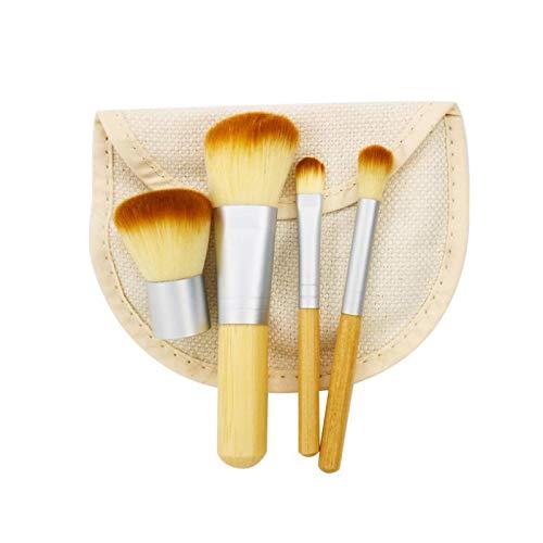 KLI Pinceaux de Maquillage pour Fard à paupières Anti-cernes en Poudre à paupières mélange de Fond de Teint Fard à paupières (4pcs)