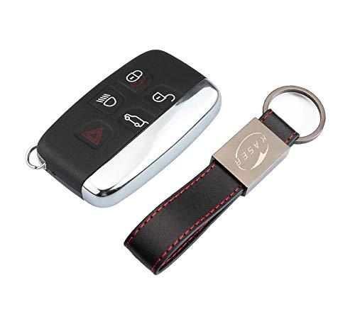 Schlüssel Gehäuse Fernbedienung für Range Rover Autoschlüssel Funkschlüssel 5 Tasten für Jaguar Land Rover Evoque Sport LR4 Discovery TDV6