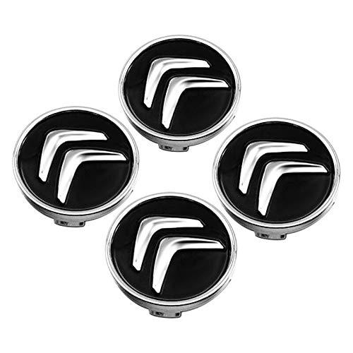 Tapas Para Llantas 4pcs Coche de ruedas del automóvil Caps compatible con Citroen C2 C3 C4 C5 C1 Elysee Berling Xsara Picasso Saxo Cactus DS3 DS Auto Hub Cubierta Accesorios Tapas de cubo de rueda