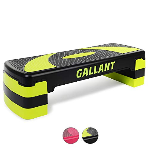 Gallant Aerobic Step - Height Adjustable Exercise Stepper | 3x Height Level...