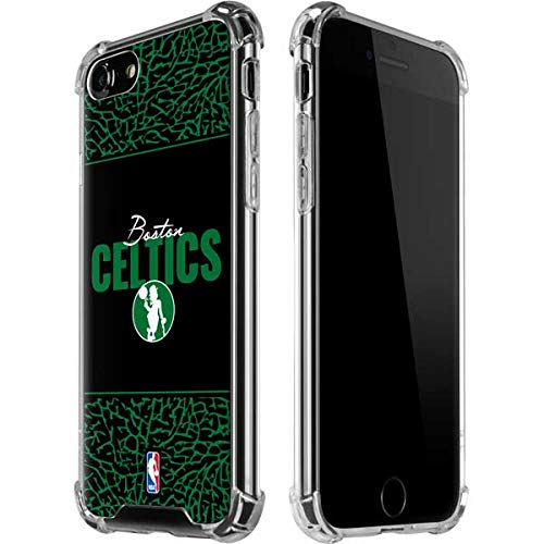 Skinit Clear Phone Case Compatible with iPhone 7 - Officially Licensed NBA Boston Celtics Elephant Print Design