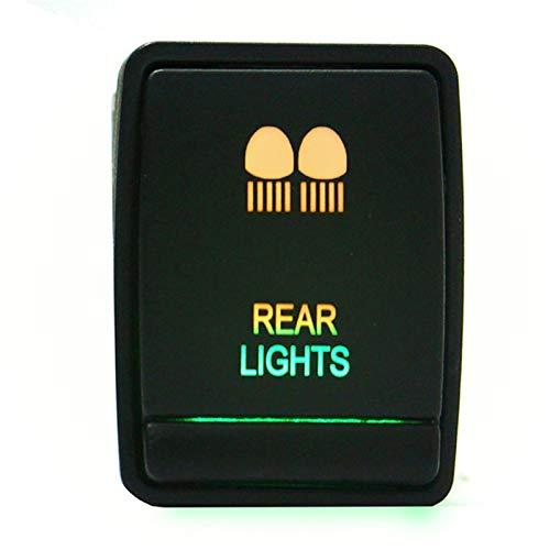 Interruptores y relés de coche de plástico de 24 m de 12 V LED interruptor de luz de conducción barra de luz de encendido y apagado para Nissan Navara NP300 Pathfinder X-Trail (color : luz trasera)