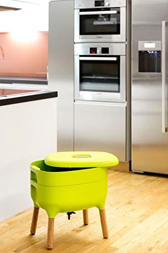 Compostiera di design per compostiera, compostiera di vermi e compostiera, colore: verde chiaro