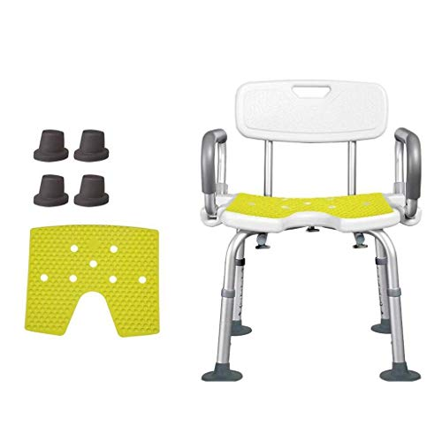 ZXY-NAN Bathroom Wheelchairs Bath Stools Bathroom Stools Bathroom Shower Lift Chair Shower Stool Pregnant Woman Bath Seat with Padding Removable Armrests Non-slip Suction Cup Feet Transfer Aid for Sen