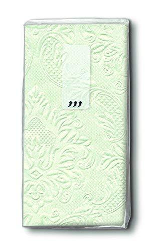 Designer - zakdoeken zakdoeken met motief 10 stuks per verpakking 4-laags eine Packung Moments Ornament Pale Green