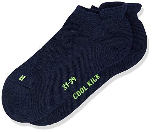 FALKE Kinder Sneakersocken Cool Kick - Funktionsfaser, 1 Paar, Blau (Marine 6120), Größe: 31-34