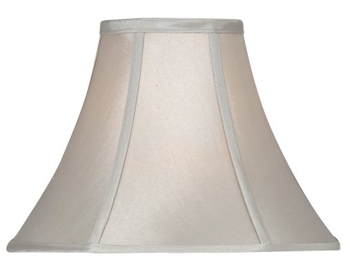 Oaks Lighting - Paralume in seta sintetica, a forma svasata, colore: Grigio