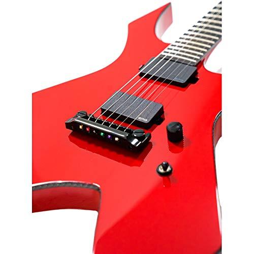 B.C. Rich Warlock Prophecy - Guitarra eléctrica, color rojo brillante