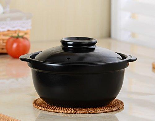 HGNsg pot oploop-stoofpot soepppan keramische pot geopend vuurpot hoge temperatuur grootte -capaciteit stenen pot - pot gezondheid - kookpot - oploop koken