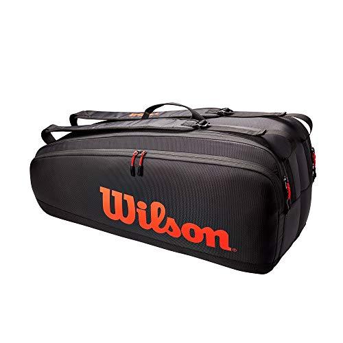 Wilson Tour TNS Bag, Borse per Attrezzatura da Tennis Unisex-Adult, Red, 6 Rackets