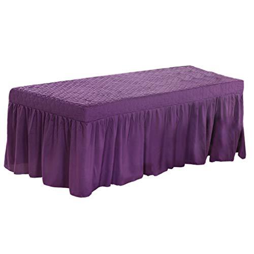 Homyl Couverture de Feuille de Lit Cosmétique Lit De Massage De Spa avec Trou De Visage - Violet Foncé