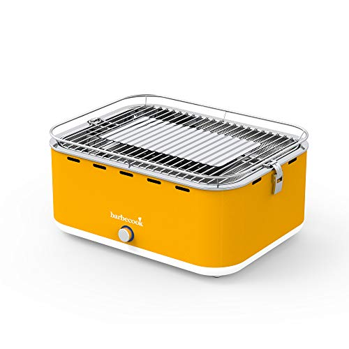 Barbecook 2235925000 Barbacoa PORTATIL Carlo, Amarillo, 43,5 x 33,5 x 20,5 cm