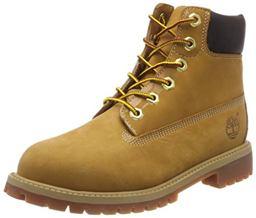 Timberland Boys' 6&quot Premium Waterproof Boot Core (Toddler/Little Kid), Wheat Nubuck, 11 M US