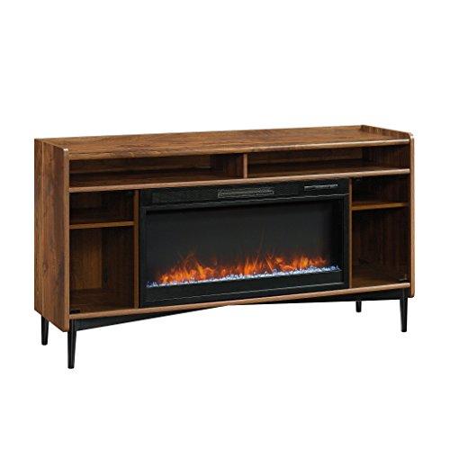 "Sauder Harvey Park Entertainment/Fireplace Credenza, for TVs up to 60"", Grand Walnut Finish"